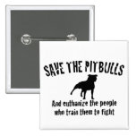 Save The Pitbulls 2 Inch Square Button