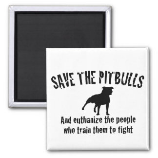 Save The Pitbulls 2 Inch Square Magnet