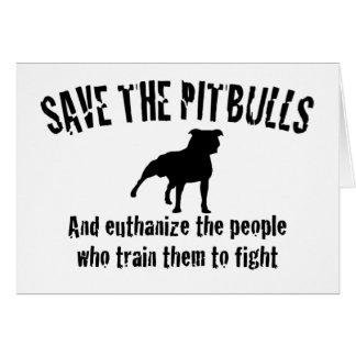 Save The Pitbulls Greeting Card
