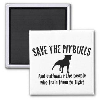 Save The Pitbulls Refrigerator Magnet