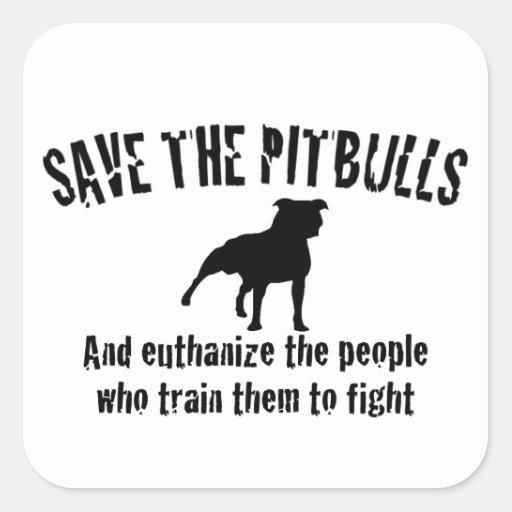 Save The Pitbulls Square Stickers
