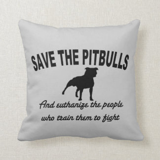 Save The Pitbulls Throw Pillow
