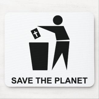 Save The Planet - Bible In The Garbage Mouse Pad