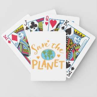 save the planet bicycle playing cards