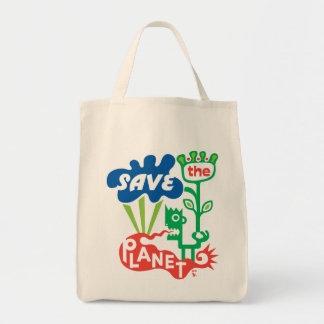 Save the Planet Canvas Bags