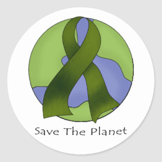 Save The Planet Classic Round Sticker