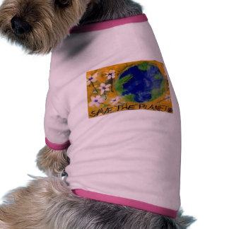 Save the Planet dog outfit Pet Tshirt