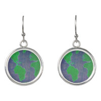 Save the Planet Earth Drop Earrings