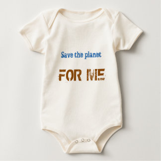 Save the planet FOR ME Baby Bodysuit