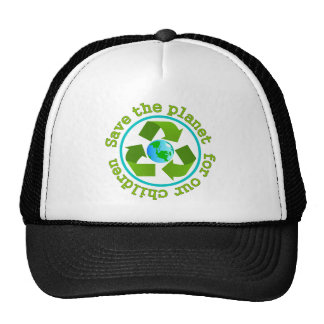Save the planet for our children trucker hat