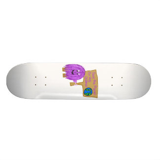 save the planet for the children skateboard deck