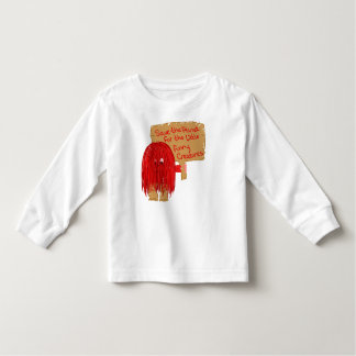 save the planet for the little furry creatures toddler t-shirt