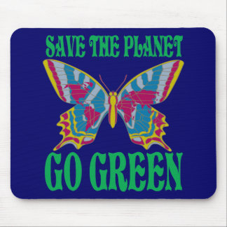 Save The Planet Go Green Mouse Pad