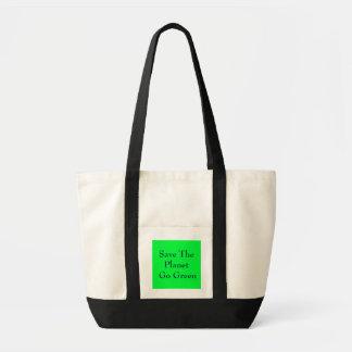 Save The Planet Go Green Tote Bag