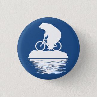 Save the Planet: Polar Bear Bicycle Button