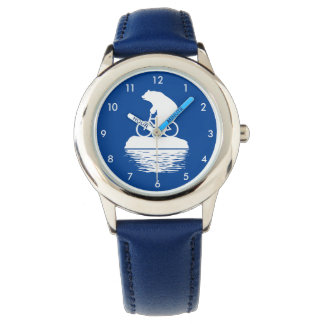 Save the Planet: Polar Bear Bicycle Kid's Watch