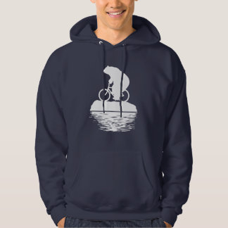 Save the Planet: Polar Bear Bicycle Men's Hoodie