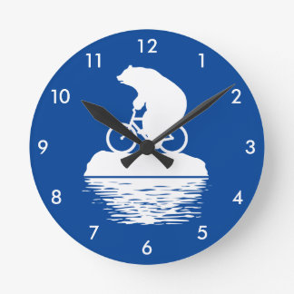 Save the Planet: Polar Bear Bicycle Wall Clock