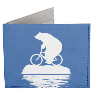 Save the Planet: Polar Bear Bicycle Wallet