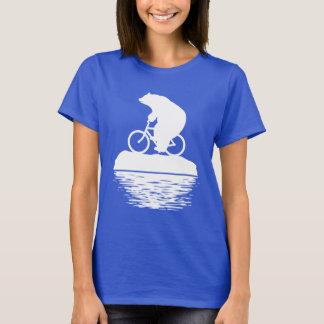 Save the Planet: Polar Bear Bicycle Women's Tshirt