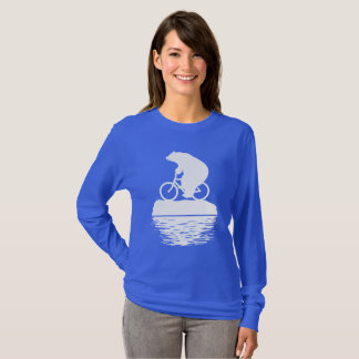 Save the Planet: Polar Bear Bicycle Women's Tshirt