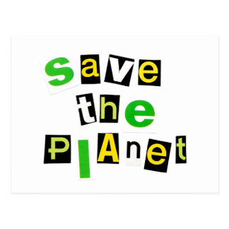 Save the Planet Postcard
