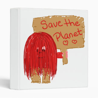 save the planet red binders