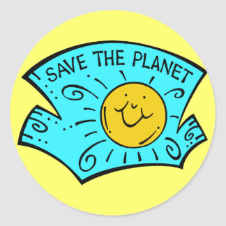 Save The Planet Sunshine Sticker