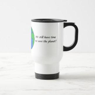 Save the planet travel mug