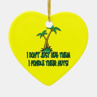 Save the planet treehugger ceramic ornament