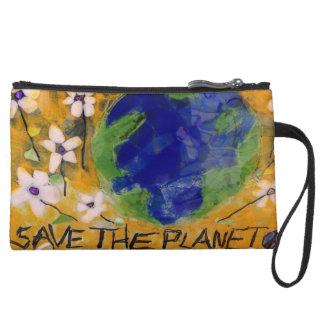 Save The Planet wrist purse