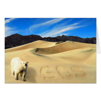 Save the Polar Bear Card
