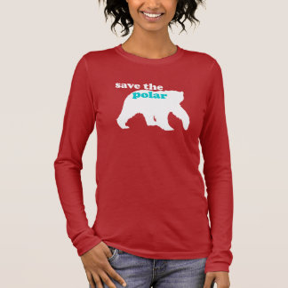 Save the Polar Bear Long Sleeve T-Shirt