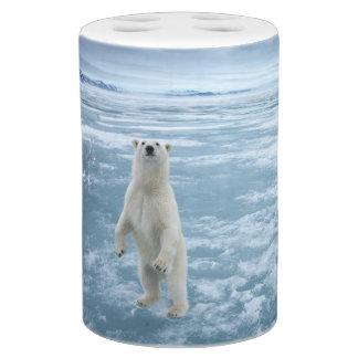 Save The Polar Bear Soap Dispenser & Toothbrush Holder