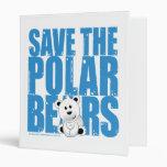 Save the Polar Bears 3 Ring Binders
