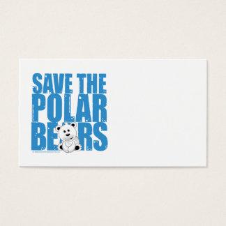 Save the Polar Bears Business Card