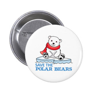 SAVE THE POLAR BEARS BUTTON