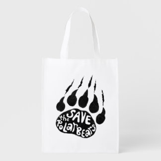 Save The Polar Bears Grocery Bag