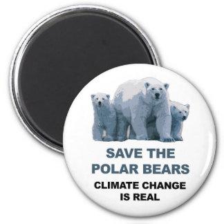 Save the Polar Bears Magnet