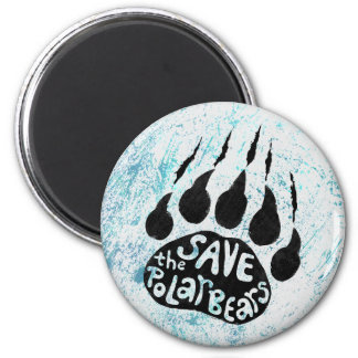 Save The Polar Bears 2 Inch Round Magnet