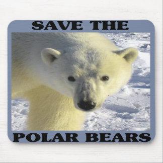 Save the Polar Bears Mouse Pad