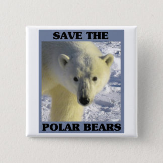Save the Polar Bears Pinback Button