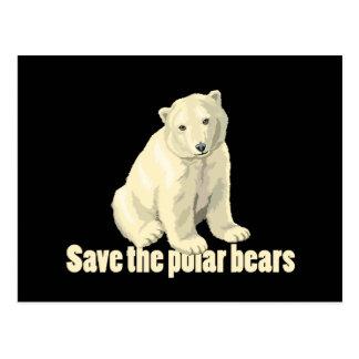 Save the Polar Bears Post Card