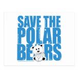 Save the Polar Bears Postcard