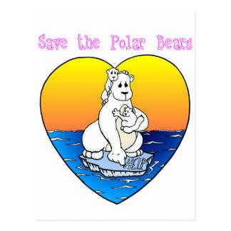 Save the Polar Bears Postcards