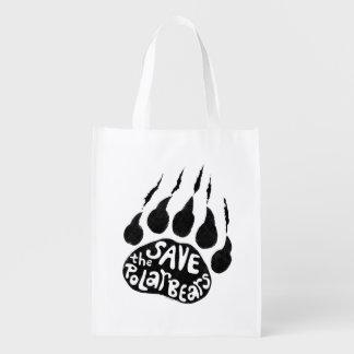 Save The Polar Bears Reusable Grocery Bag