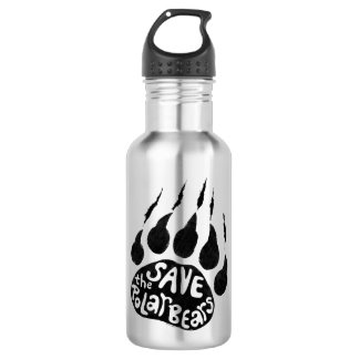 Save The Polar Bears Stainless Steel Water Bottle