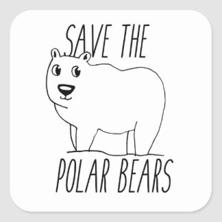 Save The Polar Bears Stickers