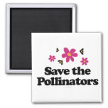 Save the Pollinators 2 Inch Square Magnet