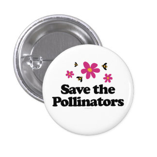 Save the Pollinators Button
